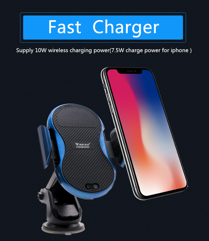 Wholesale Car Wireless Charger QI standard Wireless  Charging Mount