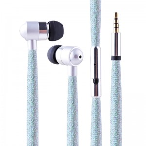 Super bass earphone high quality new shoelace earbuds