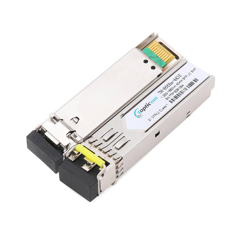1.25Gb/s SFP 1550nm 40km DDM Duplex LC optical transceiver