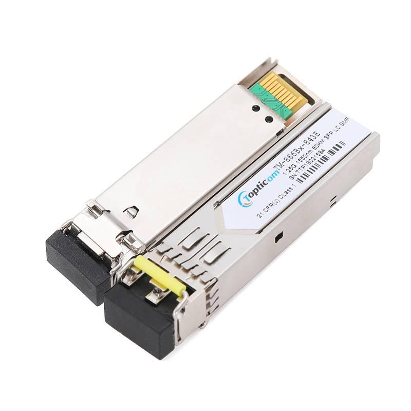 1.25Gb/s SFP 1550nm 80km DDM Duplex LC optical transceiver