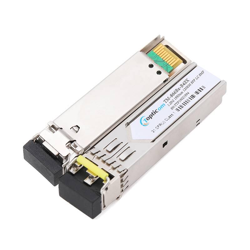 1.25Gb/s SFP 1550nm 120km DDM Duplex LC optical transceiver