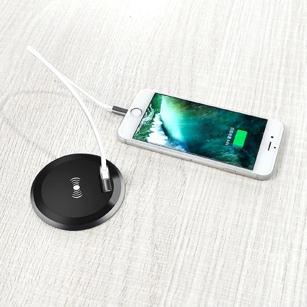 wholesales desktop wireless charger pad built-in Table desktop wireless charger