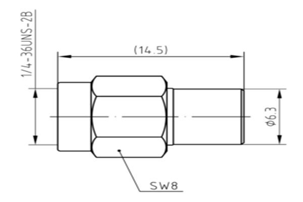 6GHz 1W Coaxial Load JX-DF-RSB-1-3