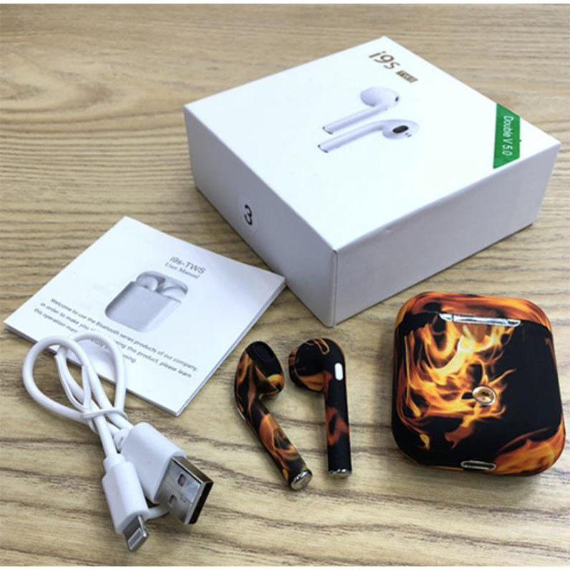 I9S TWS earbuds with charger box