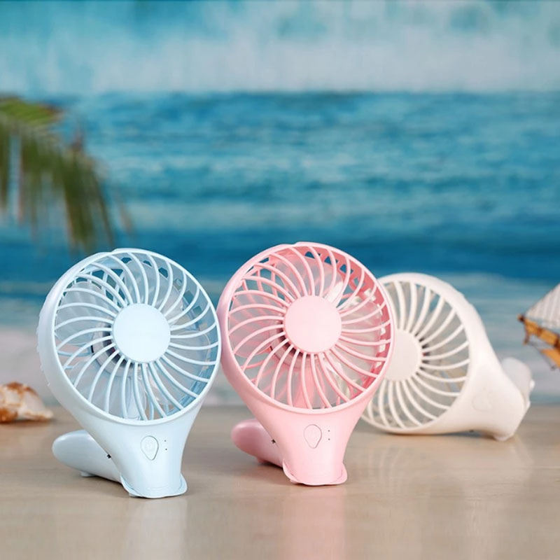 Portable rechargeable handheld cooling fan