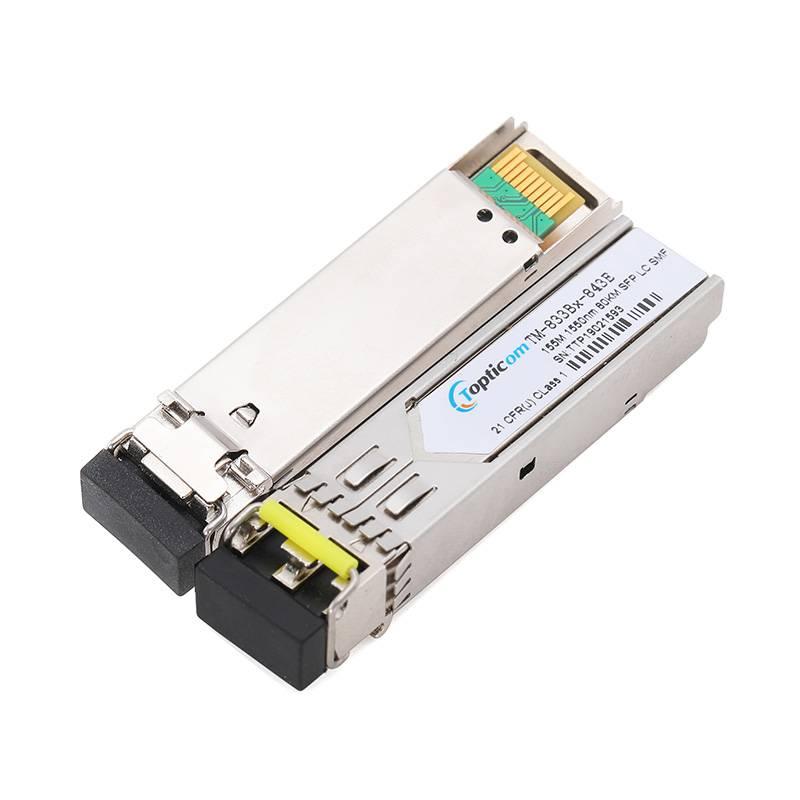 155Mbps SFP 1550nm 80km DDM Duplex LC optical transceiver