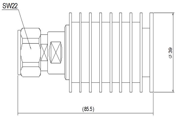 20W Coaxial load Load DC-3GHz JX-PL-DC3G-4310M20W