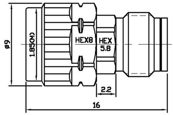 Operating From DC-67GHz High Frequency Attenuator Available with 1/2/3/4/5/6/7/8/9/10/20/30dB JX-AT-DC67G-1.85MFx
