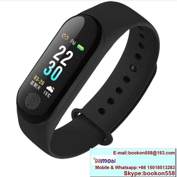 M3 Plus Heart Rate Blood Pressure Color LCD Smart Bracelet