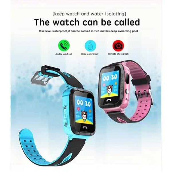 V6g Waterproof GPS Phone Positioning Children Smart Watch Sos LED