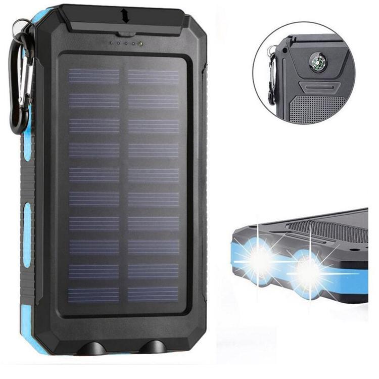 F6-10000 mah dual usb mobile solar power bank