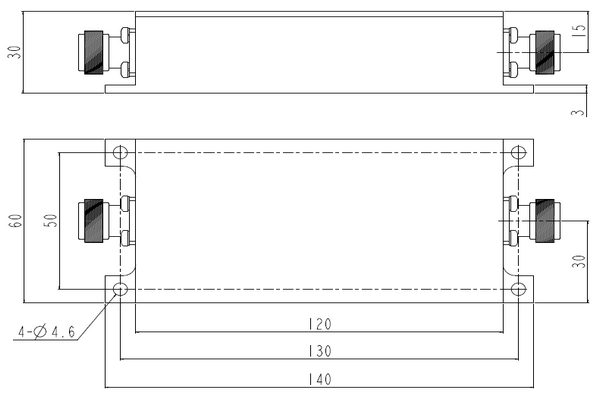 Lowpass LC Filter Operating From 30-600MHz With the Option of N Connector  JX-LPF1-30M600M-40N