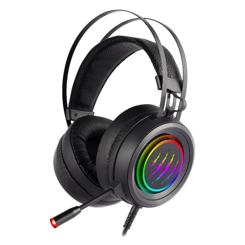 G81 Gaming Headset for PS4, Xbox One Headset with 7.1 Surround Sound Stereo, Noise Cancelling Mic, Memory Foam Ear Pads, RGB Light, Over-Ear Headphones for PC, Laptop