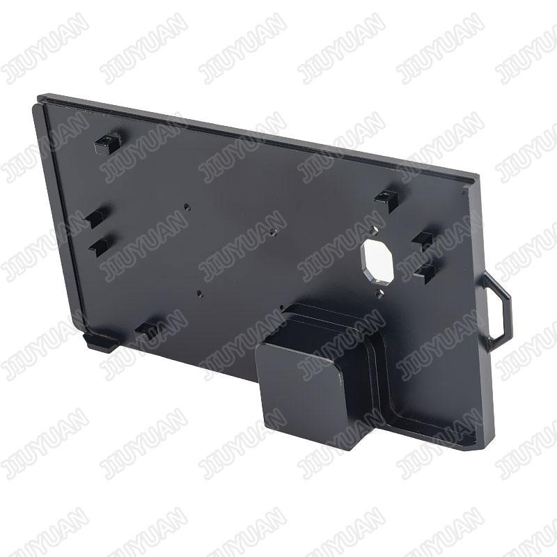 Black anodized CNC aluminum machining parts