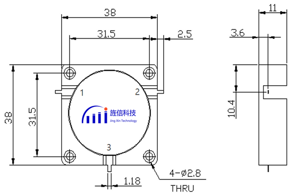 SMA /N Connectors Coaxial Circulator Operating From 700-5000MHz JX-CT-xxxMxxxM-xN_xS