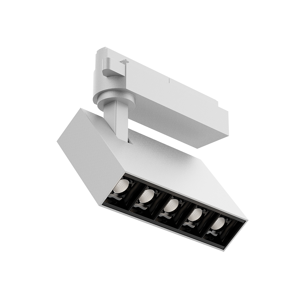 Integrated driver adapter round square led track light AT21120