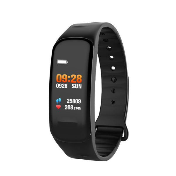 C1S Color Screen Heart Rate Monitor Fitness Tracker Sports Smart Bracelet Watch