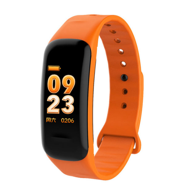 C1S Color Screen Heart Rate Monitor Fitness Tracker Sports Smart Band Watch