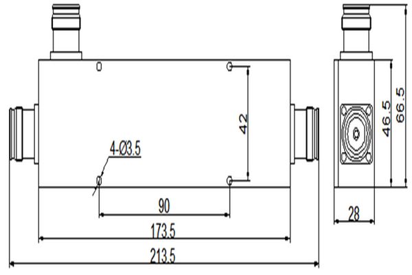 Directional Coupler Operation From 340-3800MHz JX-DC-340M3800M-4310Fx