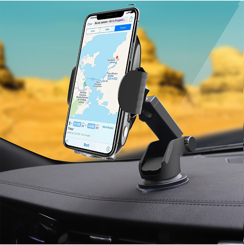 2020 new arrivals Car Wireless Charger 10W, Automatic Infrared Induction Auto Open & Clamp, Qi Wireless Charging Stand Car Mount