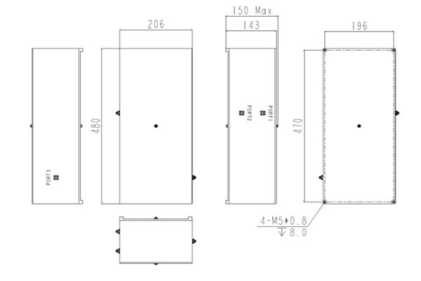 Dual Cavity Duplexer 453-454MHz/460-462MHz/458-459MHz/465-467MHz JX-CD4-453M467M-70S