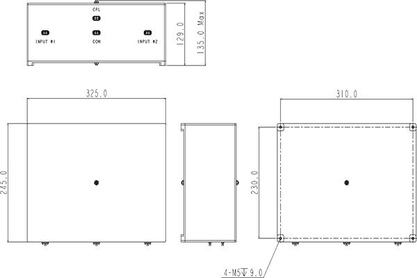 Public Safety Dual Diplexer 490-500MHz JX-CD4-490M500M-85B