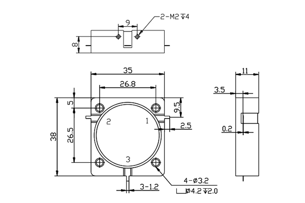 ISOLATOR Drop-in Connector 806-815MHz Low Insertion Loss JX-TI-WG3538X-3