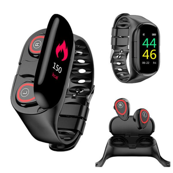 M1 Newest Heart Rate Monitor Smartwatch Earphone
