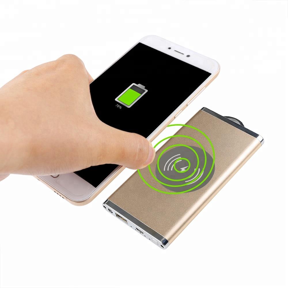 New Wireless Power Bank 6000mah Portable Wireless Charger Qi Powerbank