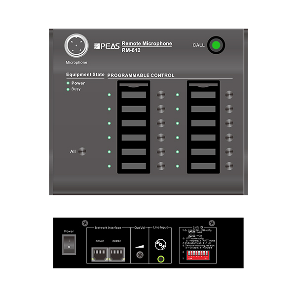 RM-612 12 Zone Remote Paging Mic