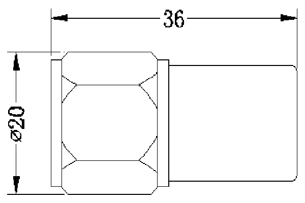 3GHz 5W Coaxial Load JX-DF-RN-5-3
