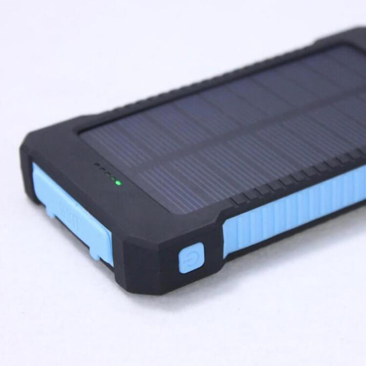 D2-waterpoof portable solar power bank with compass