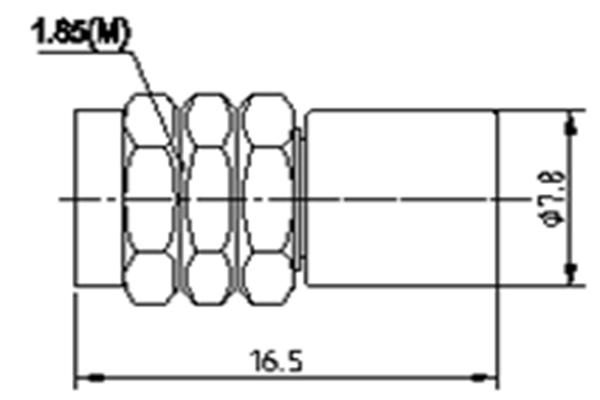 Coaxial Load 1.85-Male DC-67GHz JX-PL-DC67G-1W185