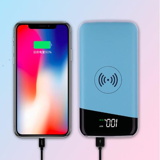 HG208-digital qi wireless power bank 10000mah