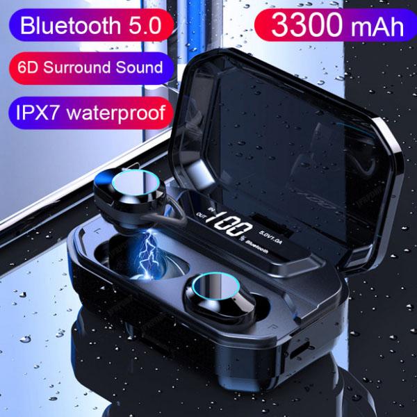 G02 TWS 5.0 Bluetooth 9D Stereo Earphone