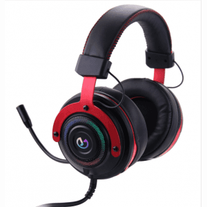 Yeesound G91 Gaming Headset, 7.1 Surround Sound, Memory Foam Ear Pads, Durable Aluminum Frame, Detachable Microphone, Works with PC, PS4, Xbox One