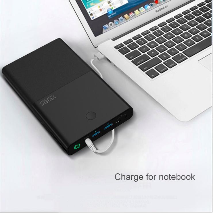 Laptop power bank 30000mah external backup battery portable charger power bank for laptop