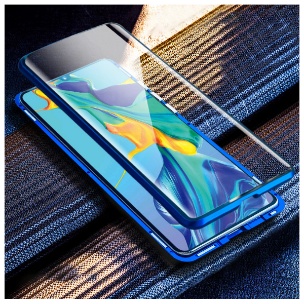 Double Sided Glass Metal Magnetic Case For Samsung Galaxy Smartphones