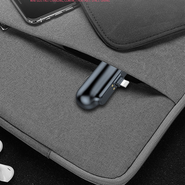 Mini Magnetic Charger  pocket Power Bank for iPhone Micro USB Type C 2600mAh Portable Battery Charger