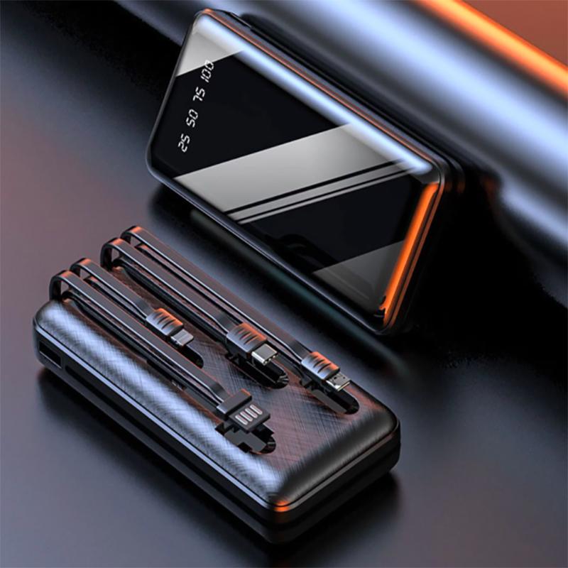 Ultra-thin 10000 mAh built-in cable  digital display mobile phone universal power bank