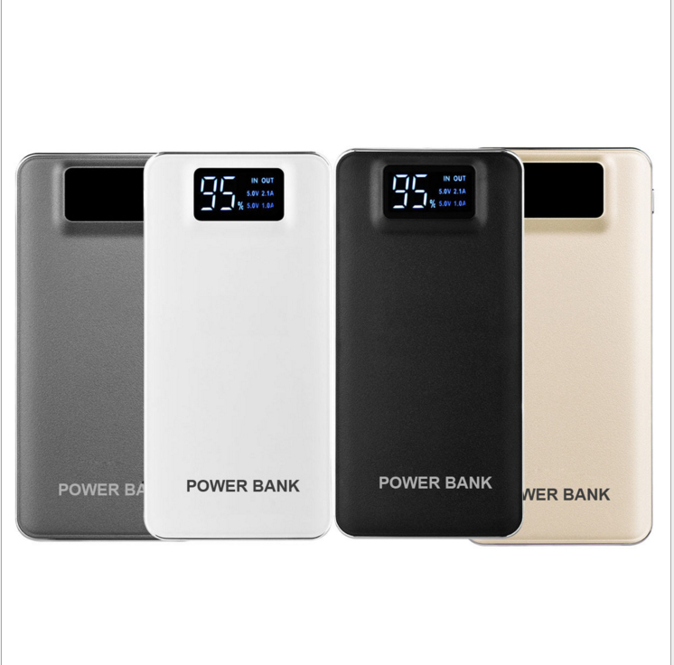 External Battery 10000mAh Dual USB LED Flashlight Powerbank Portable Battery Fast Charger