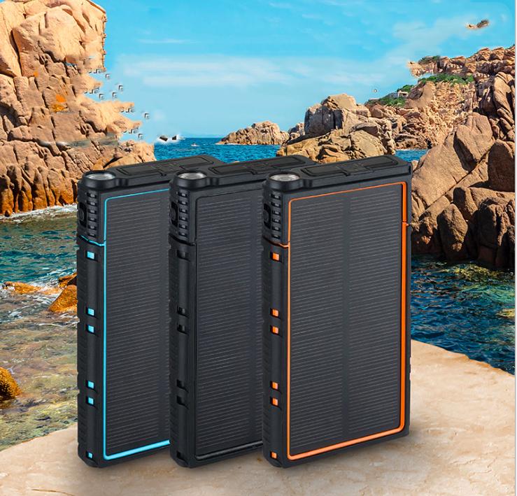 Waterproof 10000mAh 20000mAh Portable Mobile Solar Charger Power Bank