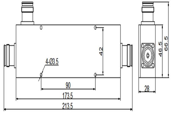 Power Tapper/Coupler 7/16(DIN)-F Connector 698-2700MHz Low PIM JX-PC-698-2700-PT 5^6^7^8^10^13^15