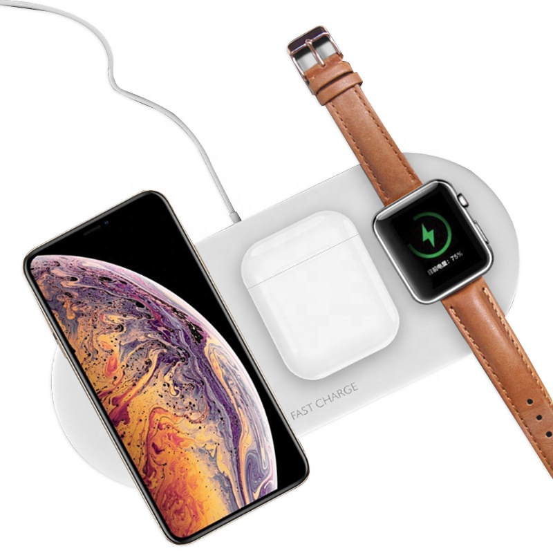 10W Wireless Multifunctional Portable Station Fast Charging Watch Magnetic Phone Dock 3 In 1 Qi Wireless Charger For Iphone 11