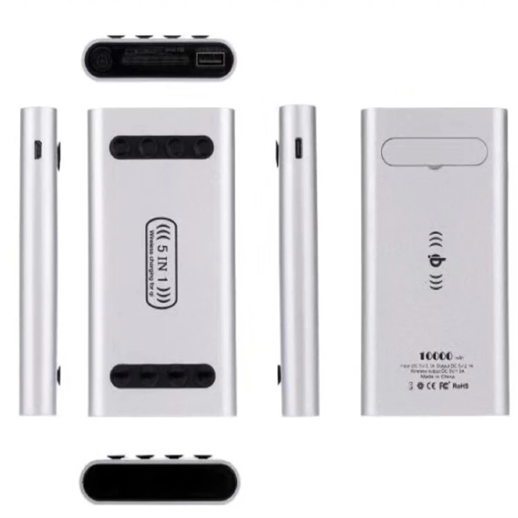 5 in 1 wireless power bank with sucker portable and convenient mobile charger