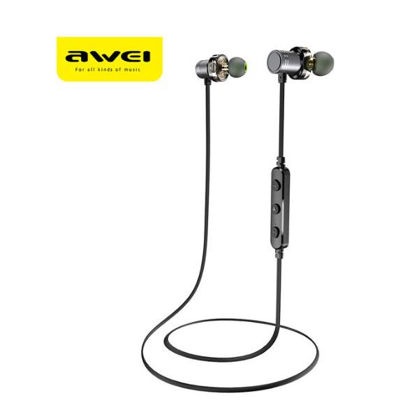 AWEI Newest X670BL Bluetooth Earphone Dual Driver Wireless earphones