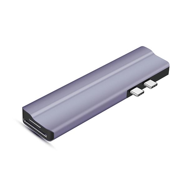T28 8 IN 2 Dual HDMI Type C HUB with 2 x HDMI + PD 100W + 3 x USB 3.0 + SD,TF