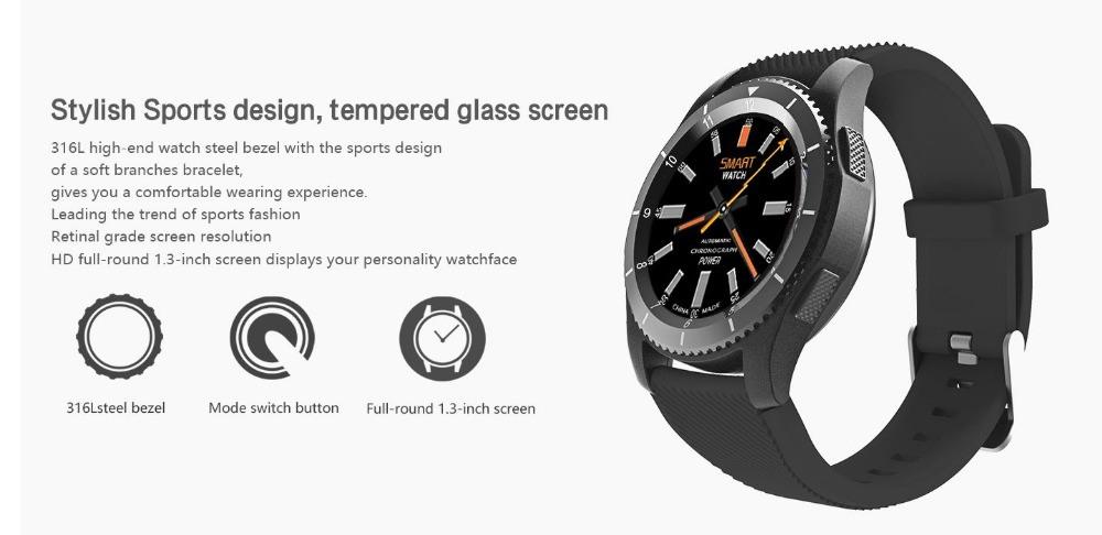 G8 Bluetooth 4.0 SIM Card Call Heart Rate Monitor Smartwatch