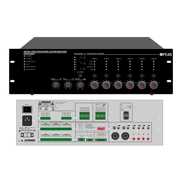 ENVA-6500T 500W 6 Zones Voice Evacuation System Extender