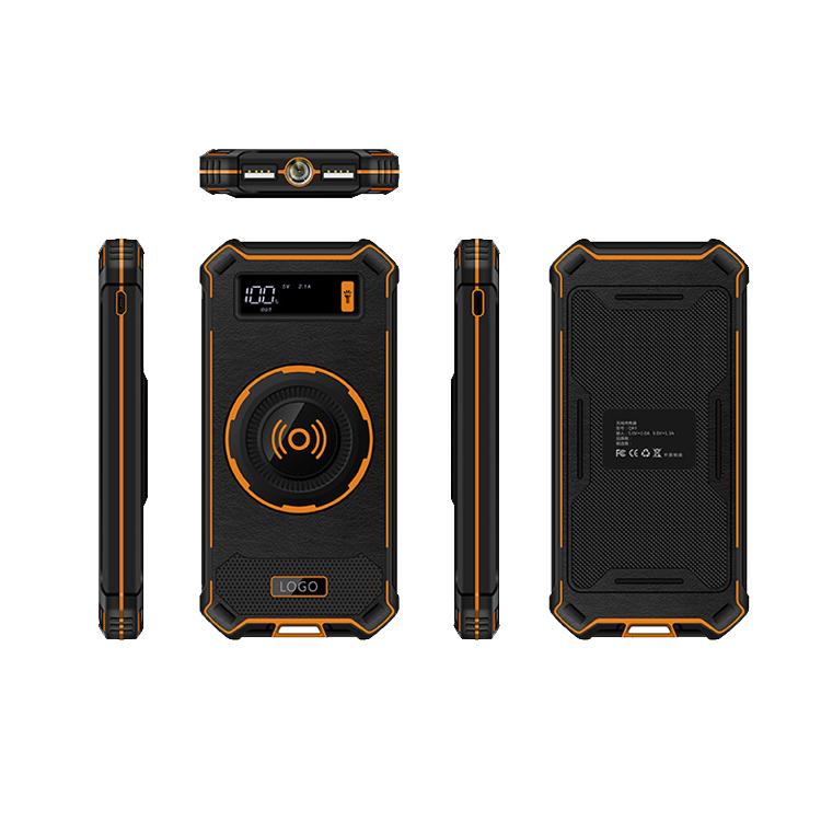 QI Wireless Charger Power Bank 10000mAh Portable LCD Display Dual USB External Battery Powerbank